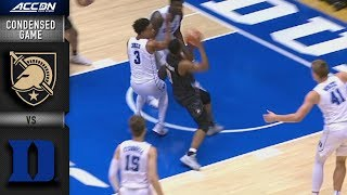 Army vs Duke Condensed Game   2018-19 ACC Basketball