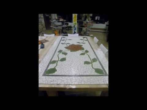 How to make a Mosaic Bathroom Floor