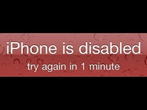 How to Reset iPhone iPad or iPod Touch password if you forgot it. Fix iPod iPhone iPad is Disabled