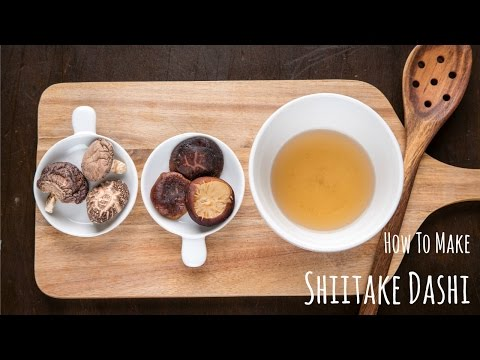 How to Make Shiitake Dashi (Recipe) 干し椎茸の戻し汁の作り方(レシピ)