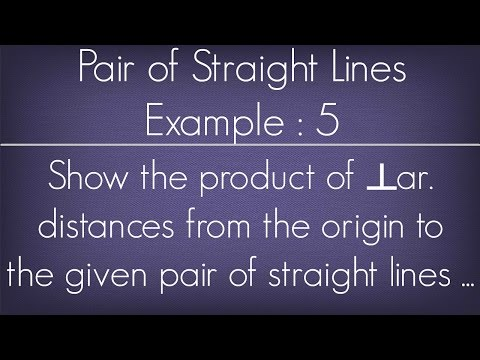 Pair Of Straight Lines Example - 5 l Maths Geometry