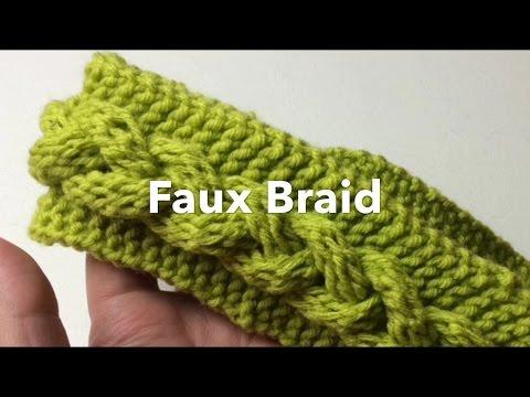 How to Loom Knit   Fast Faux Braid   Headband or scarf