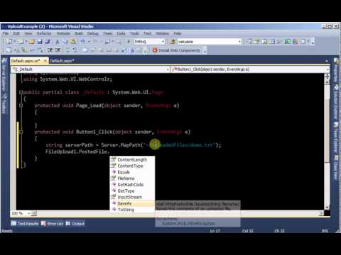 Upload files to server in ASP.Net (C# Code)