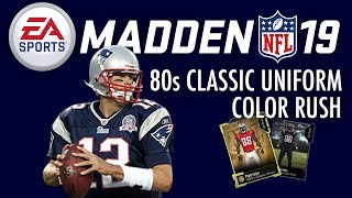 f27931a50 MUT: Patriots 80s Classic Uniforms and Color Rush Uniforms #Madden19