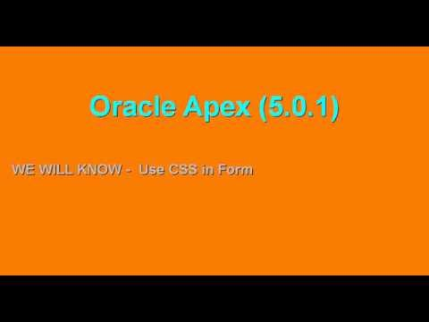 Oracle Apex :use css in form of oracle Apex  // {class:11}