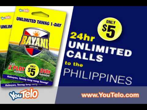 Unlimited Calls to the Phillipines for $5!