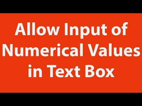 How to allow only input of numerical values in userform text-box using Excel VBA
