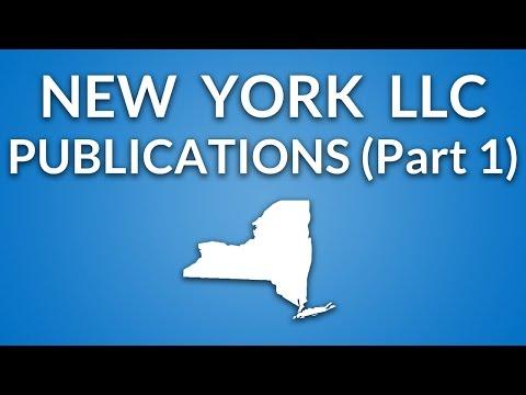 New York LLC - Publication Requirement (Part 1)