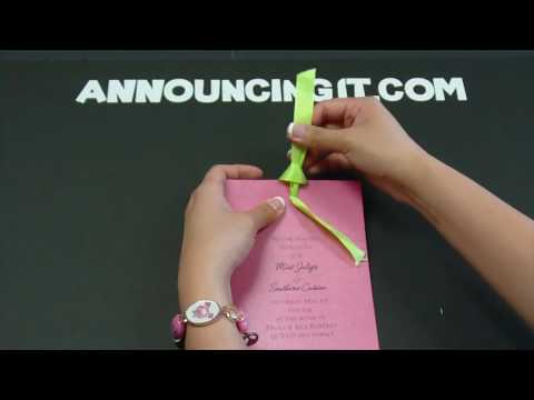 How to tie a Looped Flat Bow on an Invitation