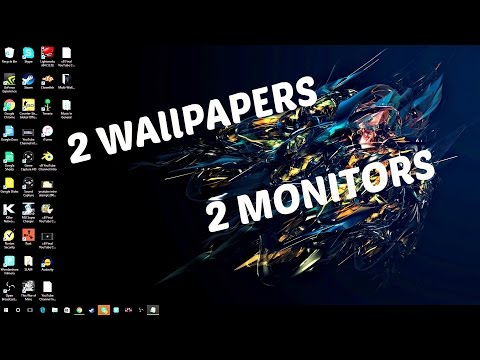 How To: Get 2 Different Wallpapers For Dual Monitor Display