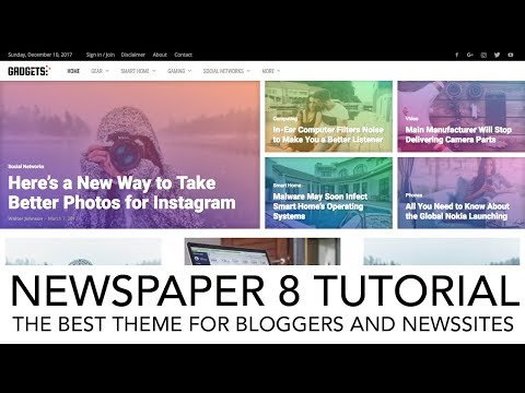 How To Create A Blog or News Website | Newspaper 8