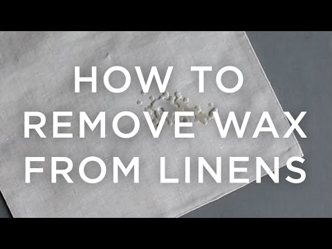 How To Remove Wax From Table Linens