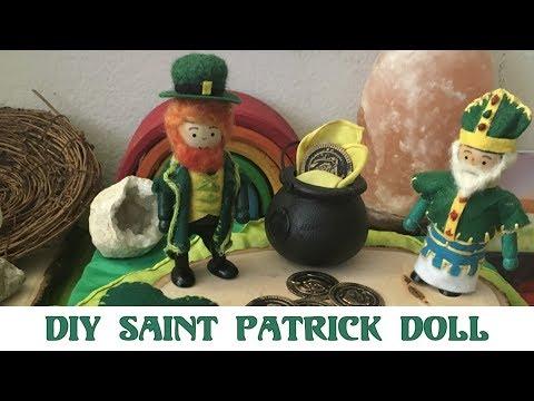 St. Patrick's Day Wooden Dolls Tutorial