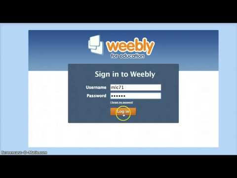Change password for Weebly