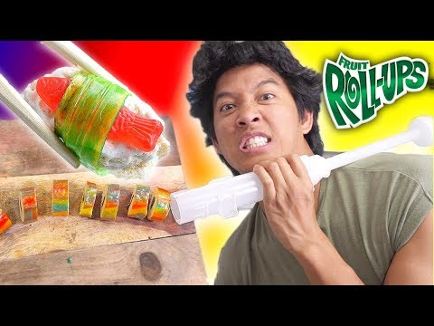 Trying Candy Sushi Kitchen Gadget!