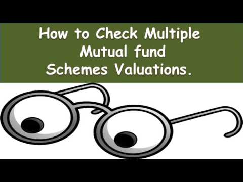 How to Check Multiple Mutual fund account portfolio valuation | Best way to check