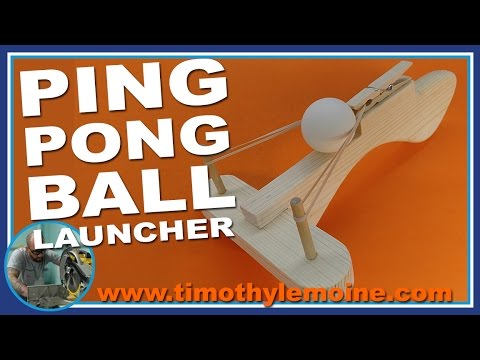How to make a Ping Pong Ball Launcher - FREE PATTERNS
