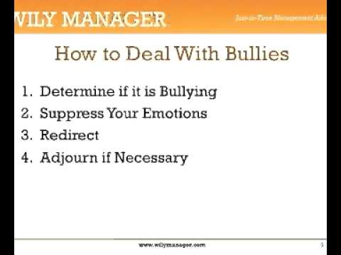Dealing With Bullies at Work - A 3-Minute Crash Course