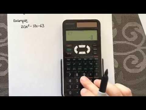 Factoring Quadratic equations using a calculator (Sharp EL-520X)