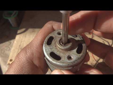 DC motor Urdu Hindi. DC magnet motor. DC motor as generator.