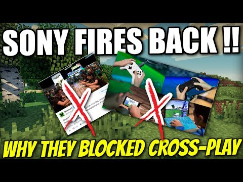 Minecraft PS4 - SONY FIRES BACK ! WHY THEY BLOCKED CROSS-PLAY - PE / Xbox / PS3 / Wii U