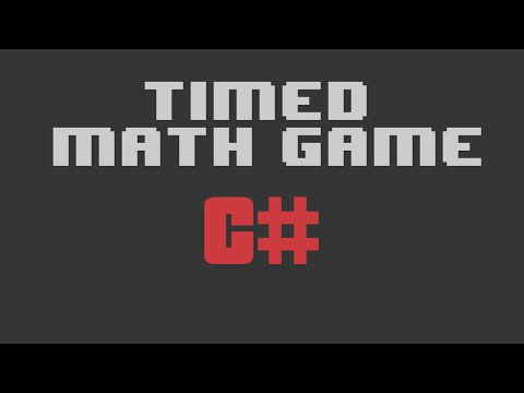 Visual Studio C# - How to make a timed math game