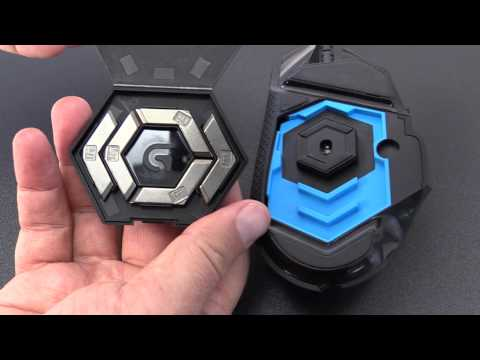 Installing weights in the Logitech G502 Gaming Mouse