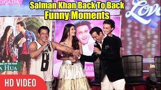Salman Khan Loveyatri Back To Back Funny Moments | Loveyatri Music Concert