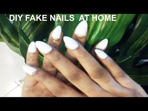DIY FAKE NAILS AT HOME (Beginner Friendly) | GoldQueen Queency