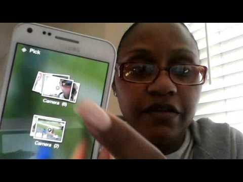 Showing How To Upload From The Samsung Galaxy S2.