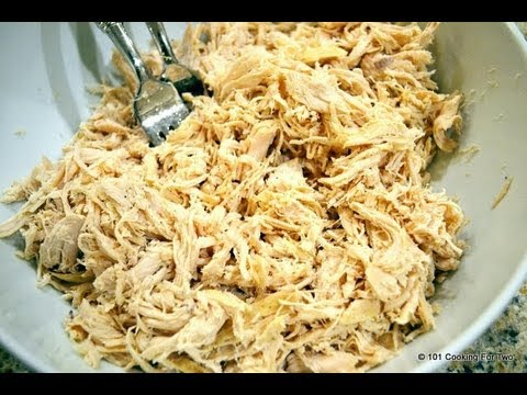 Easy, Healthy, Shredded CrockPot Chicken recipe
