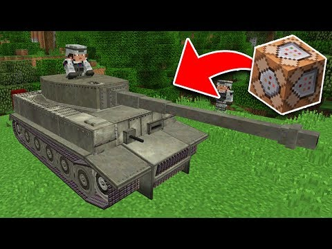 WORKING TANK in Minecraft Using Command Blocks! (Pocket Edition, PS4/3, Xbox, Switch)