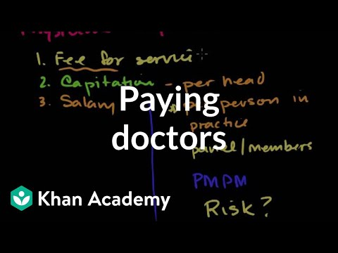 Paying doctors | Health care system | Heatlh & Medicine | Khan Academy