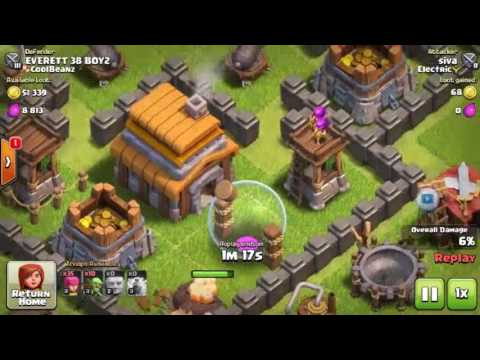 Clash Of Clans me (siva)&(Everett 38 boy2)war. Goblin help me to save time.