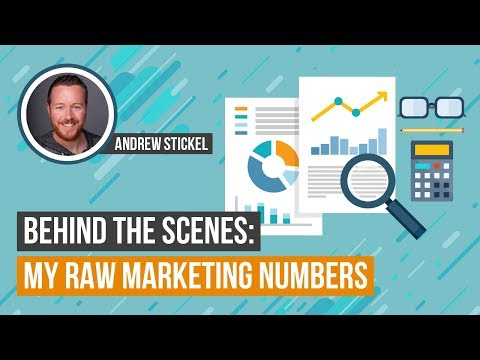 Behind the Scenes: My Raw Marketing Numbers