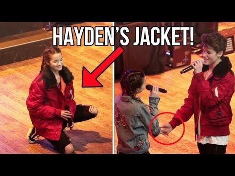 ANNIE LEBLANC WEARS HAYDEN'S JACKET FOR PERFORMANCE!