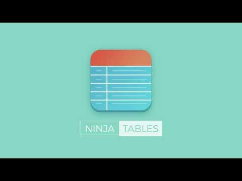 Introducing Ninja Tables - The Easiest & Fastest Responsive Table Plugin on WordPress.