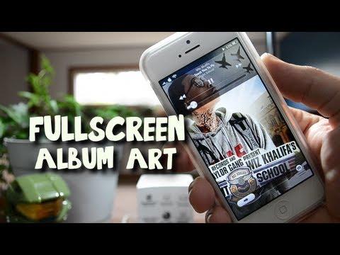 Fullscreen Album Art - Tweak Forces Album Art Fullscreen With Animation For iPhone & iPod Touch