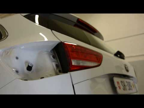 Rear tail light removal replacement Kia Cee'd interior part