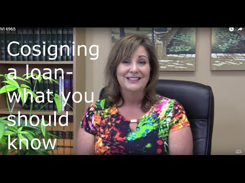 Cosigning a loan- what you should know