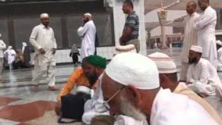 Naat during rain in Madinah in front of Gumbade Khazra Part 2