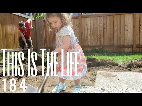 DIY BACKYARD MAKEOVER PEA GRAVEL PATIO & FIRE PIT UNDER  $1,000 | THIS IS THE LIFE 184
