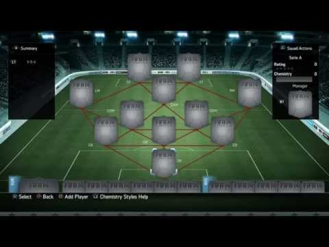 FIFA 14 AMAZING SERIE A SQUAD BUILDER ULTIMATE TEAM