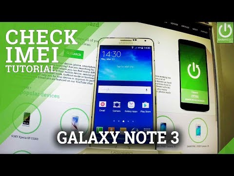 SAMSUNG Galaxy Note 3 Check IMEI / IMEI Information