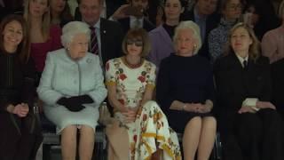 Queen Elizabeth II attends London Fashion Week catwalk show