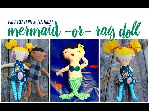 Sew A Mermaid or Rag Doll FREE PATTERN