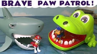 Paw Patrol Stop Motion Brave Pups with Thomas and Friends & Kinder Surprise Eggs Fun TT4U