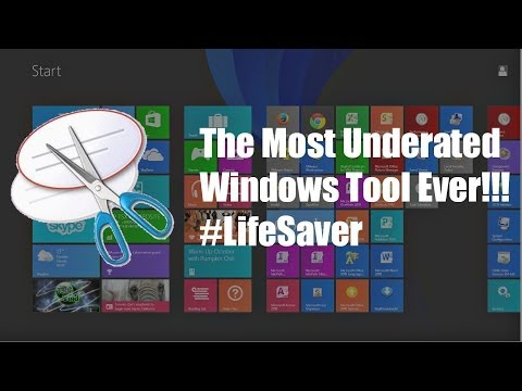 HOW-TO: Use the Windows Snipping Tool on Windows Vista/7/8/10 - Definitely a Lifesaver!!