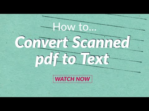 Convert Scanned PDF to text Online