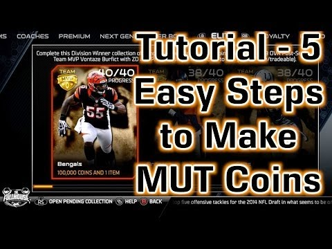 Madden NFL 25 - Tutorial - 5 Easy Steps to Make MUT Coins!